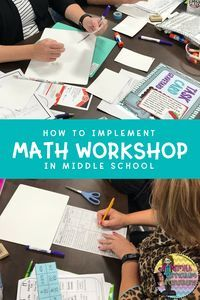 Are you struggling with implementing Math Workshop at the Middle School level? After many years of using Math Workshop in my classroom I am sharing some of the basics on planning, setting up and implementing math workshop right away! Middle School Classroom, Math Classroom, Classroom Ideas, Classroom Organization, Future Classroom, Flipped Classroom, Classroom Management, Elementary Math, Upper Elementary