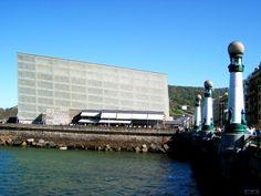 Kursaal bridge in San Sebastian, Spain