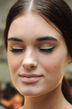 Mod eyeliner at Alice + Olivia, The Most Pinterest-Worthy Fashion Week Photos
