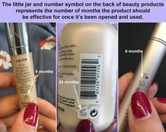 In fact, every product you buy should have the life in months marked on some part of the packaging. Sometimes it's on a box, other times it's on the product itself. | 21 Genius Beauty Tricks Every Woman Should Learn In Her Twenties