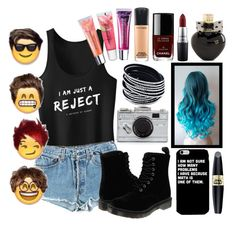 """""""5SOS Outfit"""" by erch on Polyvore featuring Levi's, Dr. Martens, Kate Spade, Aéropostale, Max Factor, MAC Cosmetics, Chanel and Maybelline"""