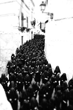 The Choir of the Desolate, on the morning of Holy Saturday, in Canosa di Puglia, Italy.