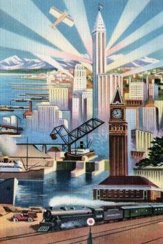 Amazon.com - Art Poster, The Modern Deco Empire - 12x18