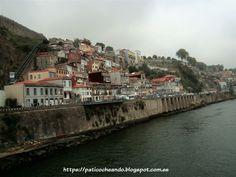 OPORTO: a la izda, las Muralhas Fernandinas(fortificaciones que protegían y rodeaban a la ciudad) y el funicular que va desde Ribeira a Batalha