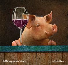 This Little #Piggy Went #Wine Tasting... Painting
