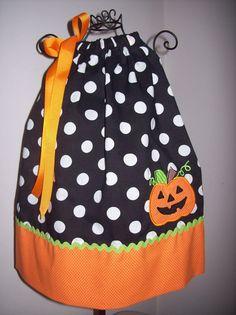 Halloween Pumpkin Pillowcase Dress Jackolantern by molliepops, $26.00