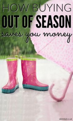 If you want to save money then stop buying stuff when the retailers tell you to. Instead, wait until it's slightly out of season and nab a great discount!