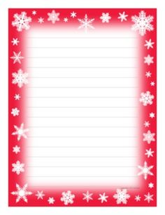 Snowflake writing paper — fun incentive for students and fun for teacher too