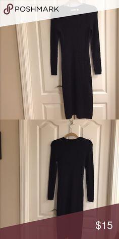 Cato black knit long sleeve dress size S Cato black knit long sleeve dress size S. Bin 5. Cato Dresses Long Sleeve