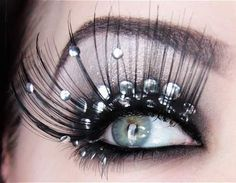 rhinestone lips makeup - Google Search