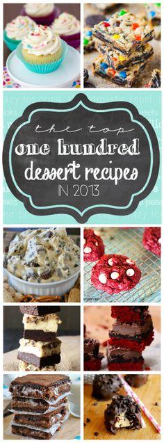 The Top 100 Dessert Recipes in 2013 | www.somethingswanky.com