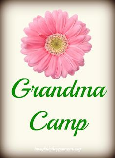 Learn how to plan 5 days of Grandma Camp