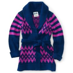 PS From Aeropostale Kids' Waves Tie Cardigan ($36) ❤ liked on Polyvore