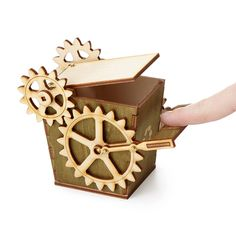 Kick your office into high gear with this steampunk-style receptacle.