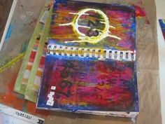 Beautiful. I never realized that you could actually journal beneath all of the art....theraputic on many levels. ;)