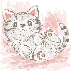 Drawing pencil and paintbrush-Cats on Behance