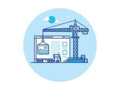Building by Nick Slater Outline Illustration, Simple Illustration, Character Illustration, Graphic Design Illustration, Ad Design, Icon Design, Logo Design, Desing App, Outline Designs