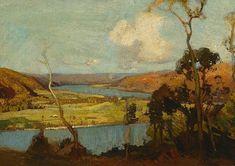 Hawkesbury landscape (circa 1925) by Sydney Long via AGNSW