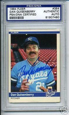 DAN-QUISENBERRY-SIGNED-AUTO-1984-FLEER-PSA-DNA-SLABBED #danquisenberry #quisenberry #autograph #signedcard  #1984