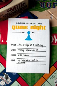 fun game night invite