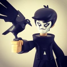 "AVAILABLE SOON: kaNO's Brandon Lee as the ""Crow King"" customized Dragon King vinyl figures!"