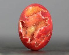 Fiery Orange Jasper Druse Druzy Druzy GEode Stones by beadsaddict Minerals And Gemstones, Rocks And Minerals, Beautiful Rocks, Mineral Stone, Rocks And Gems, Stones And Crystals, Gem Stones, Orange Crystals, Healing Stones