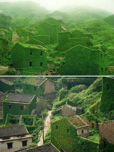 Goqui island china abandoned fishing village