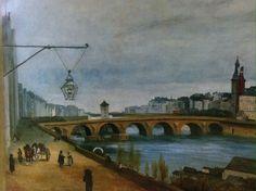Jean Baptiste Camille Corot, Le Pont-au-Change et Le Palais de Justice Paris .1830 on ArtStack #jean-baptiste-camille-corot-2 #art
