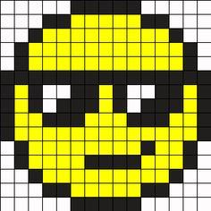 Minecraft smiley face pixel art template!!