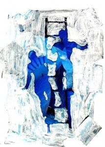 Positive and negative space: silhouettes in mixed media  5giu14_82