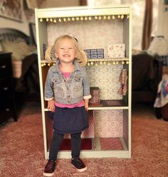 diy bookcase dollhouse - i don't have a girl but this is a great idea!