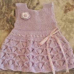 vestidos de tricô para bebe