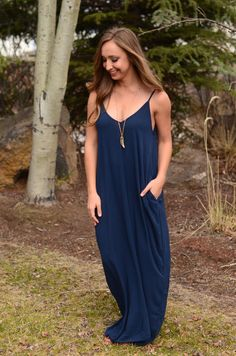 Gypsy Soul Maxi Dress - Navy