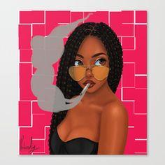 Ideas Wallpaper Black Girl Drawing For 2019 Black Love Art, Black Girl Art, Black Is Beautiful, Black Girl Magic, Art Girl, African American Art, African Art, Drawings Of Black Girls, Black Girl Cartoon