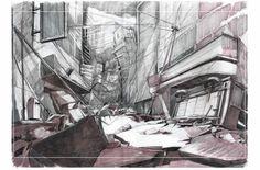 Concept de Sombras ciudad en ruinas, por Damiatrix