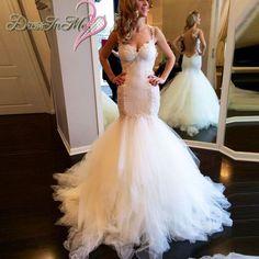 Gorgeous Sweetheart Lace Trumpet Wedding Dress Cap Sleeves Low V Sheer Back Mermaid Wedding Dresses
