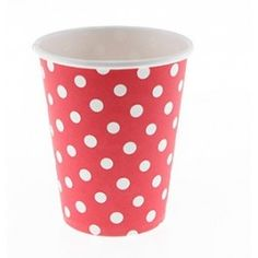 Sambellina Party Cups - Polka Dot Red {SO MANY COLOURS!}  - Set of 12