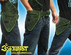 """Special Designed Pocket Belt Pouch with Green Leaf design.  --  While searching for a somewhat more tactical belt pouch GI brought back this interesting leaf pouch. Even though this is """"not for me"""" this is exactly what someone is looking for!"""