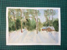 Watercolor. Winter