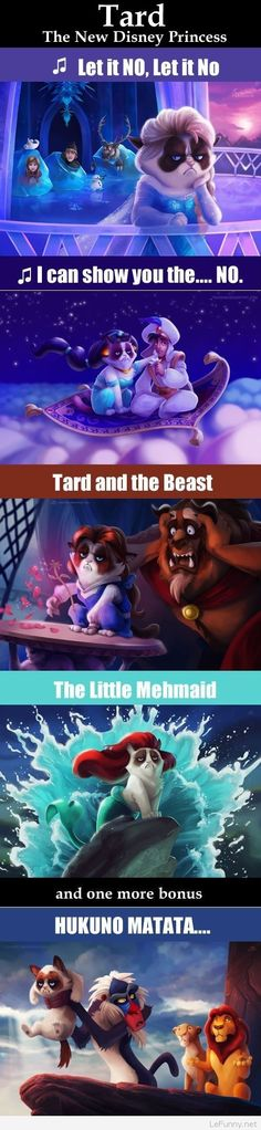 The new Disney Princess – Funny grumpy cat pics Funny Pictures Funny Quotes Funny Jokes – Photos, Images, Pics Grumpy Cat Quotes, Funny Grumpy Cat Memes, Funny Disney Memes, Disney Jokes, Funny Cats, Funny Jokes, Funny Minion, Animal Jokes, Funny Animal Memes
