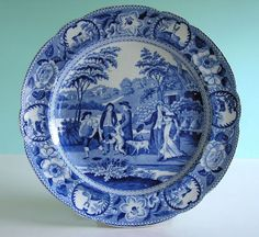Image result for blue and white staffordshire plate