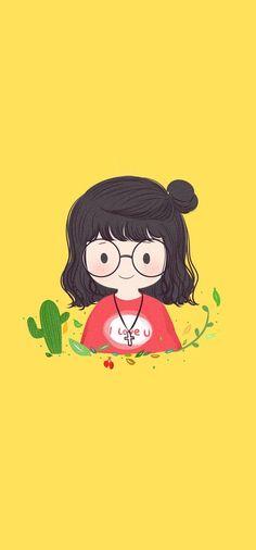 Cartoon Drawings, Cartoon Art, Cute Drawings, Cute Wallpapers, Wallpaper Backgrounds, Iphone Wallpaper, Arte Indie, Kawaii Doodles, Dibujos Cute