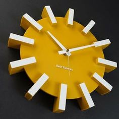 VINTAGE STARBURST SUNBURST SETH THOMAS DRAMATIC EAMES ATOMIC ERA WALL CLOCK 50s_