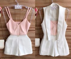 Formal outfit with shorts in white Classy Outfits, Chic Outfits, Trendy Outfits, Summer Outfits, Look Star, Look Chic, Short Outfits, Casual Chic, Casual Looks