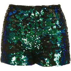Sequin Shorts by We All Shine (78 AUD) ❤ liked on Polyvore featuring shorts, high rise shorts, highwaist shorts, high-rise shorts, topshop shorts and sequin shorts