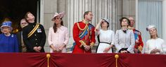 Kate Middleton Photos - Queen Elizabeth II, Prince Andrew, Duke of York, Prince Harry, Catherine, Duchess of Cambridge and Prince William, Duke of Cambridge, Princess Eugenie and Princess Beatrice stand on the balcony during the annual 'Trooping the Colour' ceremony at Buckingham Palace in London. - Queen Elizabeth II, Prince Andrew, Duke of York, Prince Harry, Catherine, Duchess of Cambridge and Prince William, Duke of Cambridge stand on the balcony during the annual 'Trooping the Colour'…