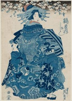 Kashiku of the Tsuruya 「鶴屋内 かしく」 Japanese, Edo period, Artist Keisai Eisen, Japanese, Woodblock print (ai-e); ink and color on paper Japan Illustration, Botanical Illustration, Edo Period Japan, Japanese Painting, Chinese Painting, Art Japonais, Japanese Calligraphy, Chef D Oeuvre, Japanese Prints