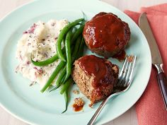 Meatloaf Muffins with Barbecue Sauce recipe from Rachael Ray via Food Network