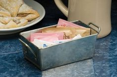 Galvanized Sugar Packet Holder