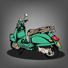 Modern Vespa Fun Vector by Ragakawaw, via Behance